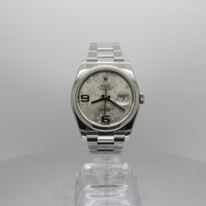 Rolex Datejust 36mm 116200 Stainless Steel Smooth Bezel Floral Dial on Oyster Bracelet Pre-owned