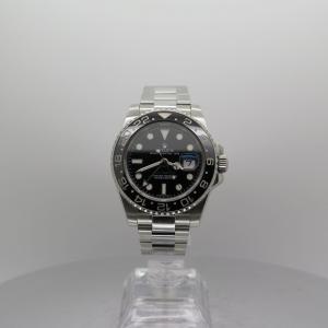 Rolex Gmtmaster 2 40mm 116710LN Stainless Steel Black Ceramic Bezel Pre-owned