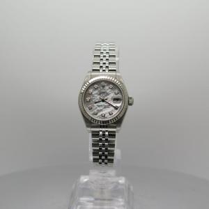 Rolex Datejust 26mm 179160 White Gold Bezel Factory Diamond MOP Dial on Jubilee Bracelet Pre-owned