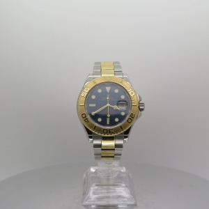 Rolex Yachtmaster 40mm 16623 18k Yellow Gold & Steel Blue Dial Pre-owned
